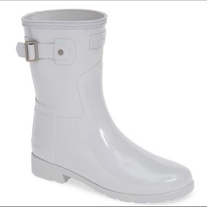 NWT/NIB Hunter Refined Short Gloss Rain Boots